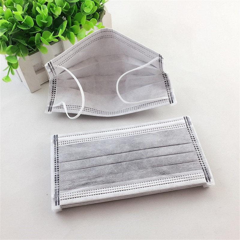50pcs 4 Layer Gray Activated Carbon Anti Dust Disposable Masks Ear Hanging Face Mouth Mask Gas Respirators Filter Mouth-muffle Back To Search Resultsbeauty & Health Health Care
