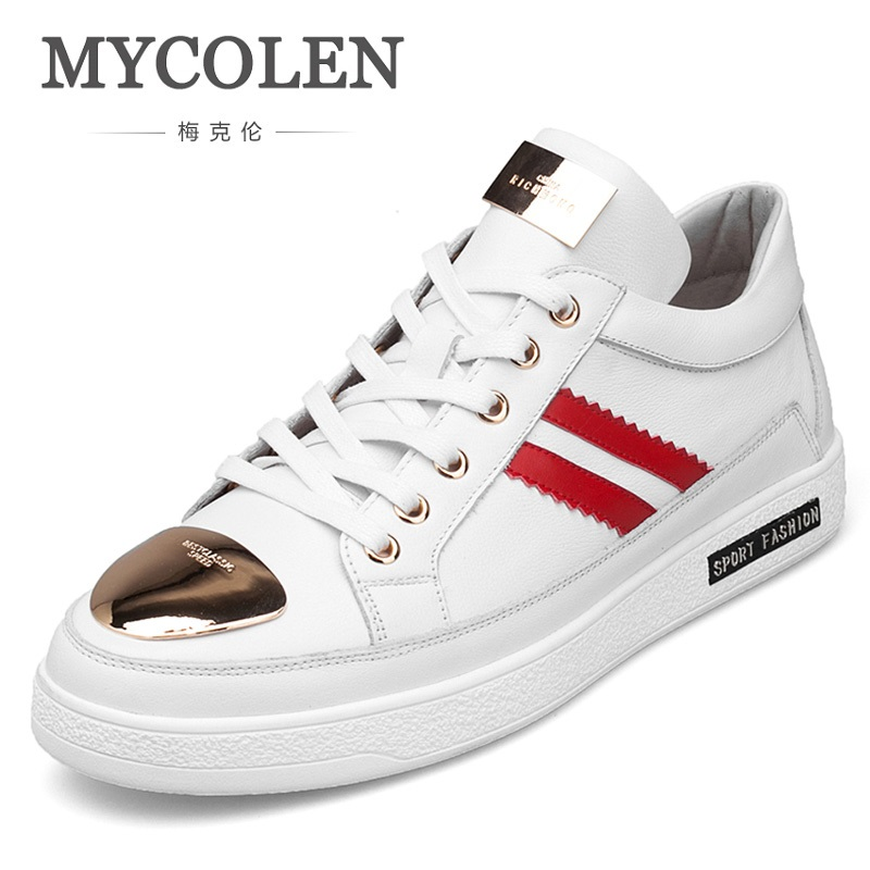 Quente Couro Europeu Mycolen Estilo Homem De Venda Moda Calçados Flats Casuais 2019 vermelho Dos Shoes Sapatos branco Preto Alta Qualidade Homens Schoenen zz6OnEqwr