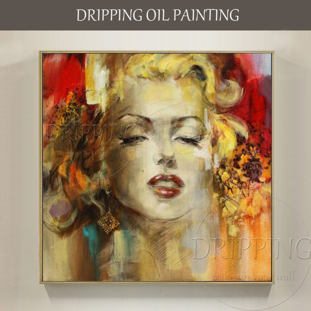 Artist Hand-painted High Quality Impressionist Portrait Oil Painting for Wall Decor Famous Marilyn Monroe