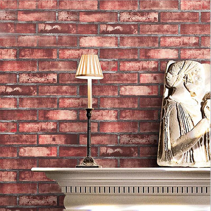 1 STÜCK Ziegel Muster Tapete Nostalgischen Café Wohnzimmer Wand  Schalldichte Anti Static Wasserdicht Vergussdichtes Dekoriert