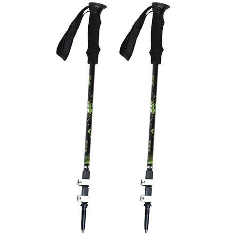 2 pack ajustavel retratil trail caminhadas bengalas polos