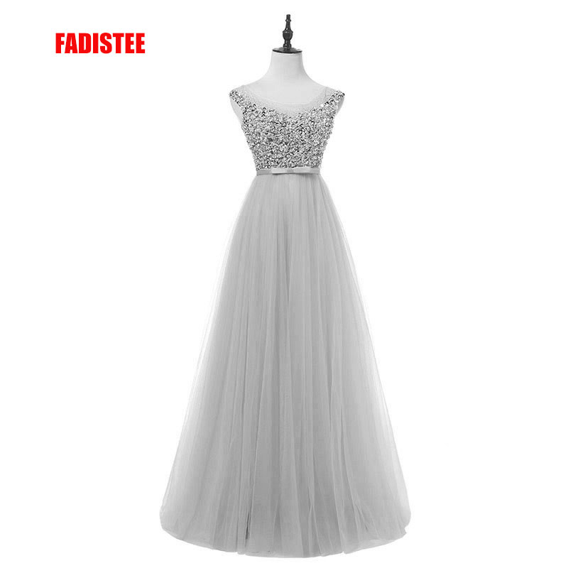 FADISTEE real photo New arrive party   prom     dress   luxury beads bling bling long gown evening formal   dresses   crystal beads style