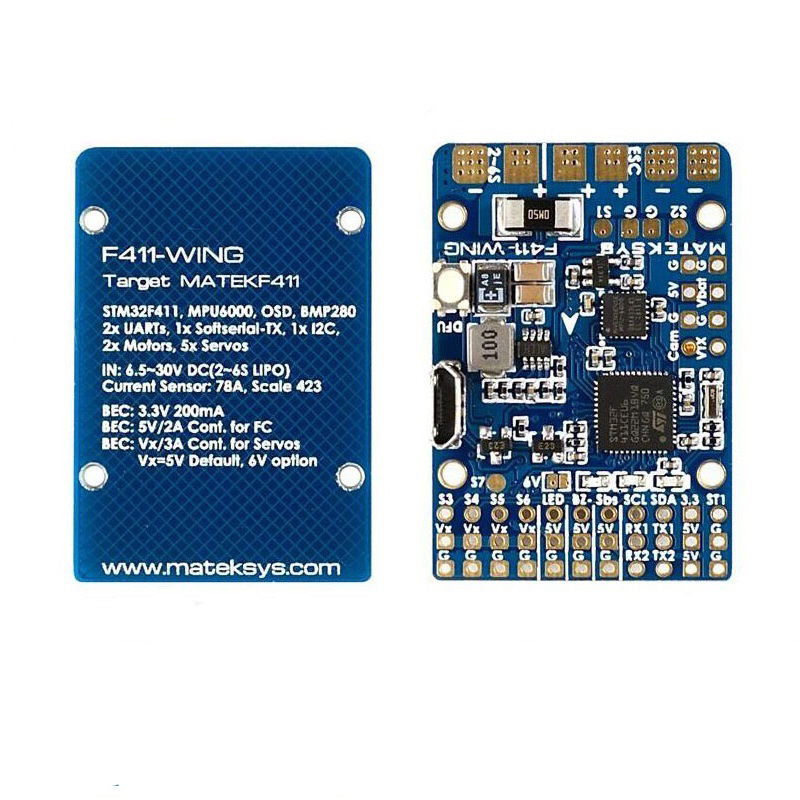 1PC F411-Wing Flight Control Fixed Wing F4 Flight Controller Module with OSD for FPV Racing Drone Spare Parts