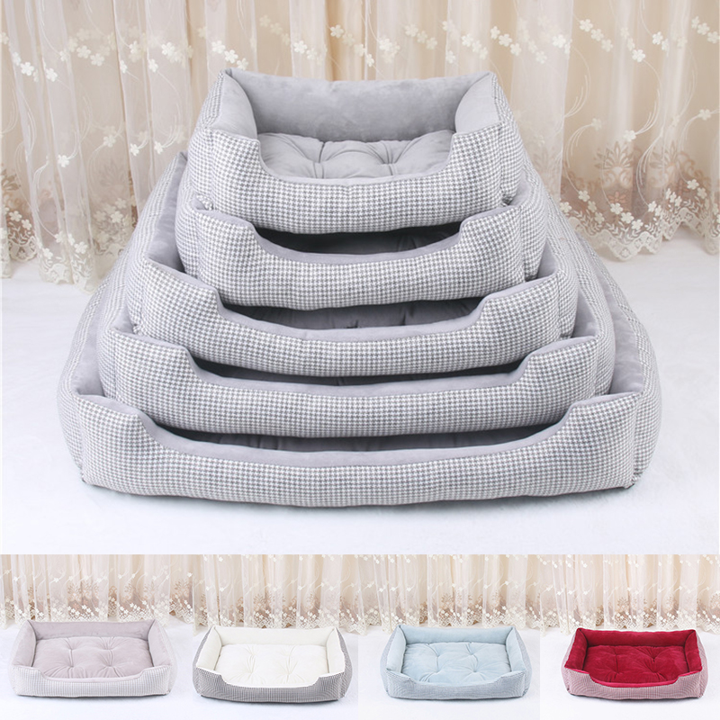 Soft Pet Dog Bed Mats House Stripped Pattern Detachable Dog Beds For Large Dogs Cats' House Pet Pad Kennels Products For Dogs #1