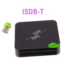 Android tv box receptor de ISDB-T para Brasil y América Del Sur, smart tv iptv Set Top ISDB T, XBMC Media Player, Dual core Aml8726-MX