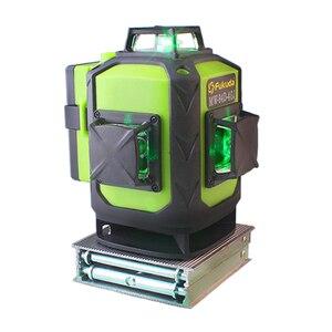 Image 4 - Fukuda Samopoziomująca 16 liniowa poziomica laserowa 4D, nowość, z zielonym światłem, obrotowa o kąt 360 stopni, generująca pionowe i poziome promienie, do użytku na zewnątrz, 2020