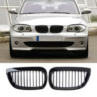 VODOOL 1 Pair Gloss Black Front Kidney Grille Grills for BMW E81 E87 2004 2007 High Quality Car Styling Acccessories
