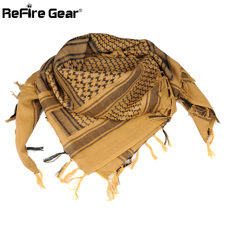 Arab Square Military Tactical Scarf Men Thicken US Soldier Army Combat Scarves Keffiyeh Shawl Veil Paintball Arabic Scarf 110cm