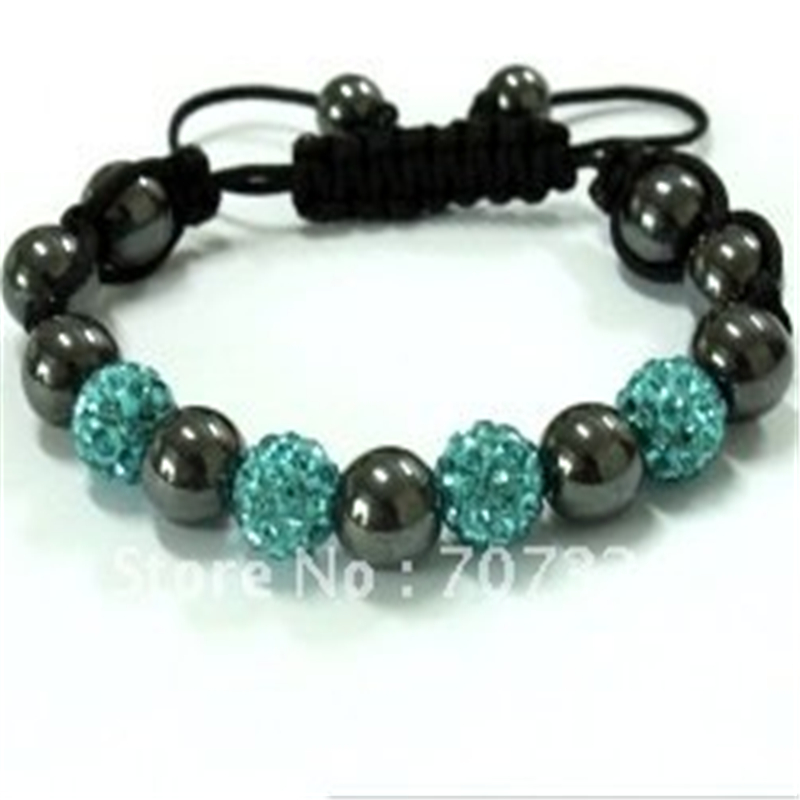 Hot Selling 4 Pcs Blue Shamballa Beads Bracelet Free Shipping More Discounts Surprises