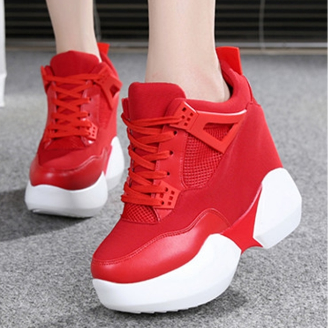 outdoor sport height increasing platform women running shoes ladies jogging  training shoes ankle boots running sneakers shoes 917ed12f0