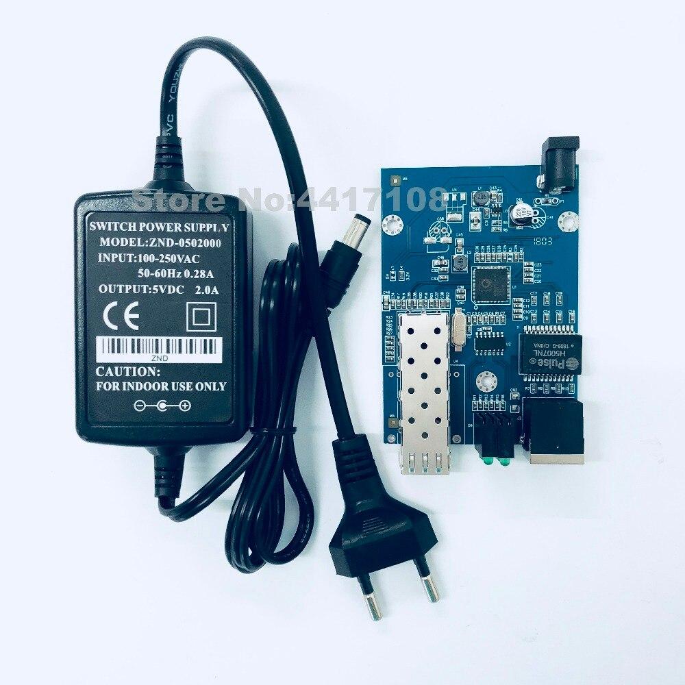 10PCS SFP Fiber to RJ45 converter gigabit SFP media converter 1000Mbps SFP Gigabit Fiber Optical Converter