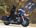 Para Harley Softail Touring Superior tenedor Slider cubre medallones BURST FLHX FATBOY