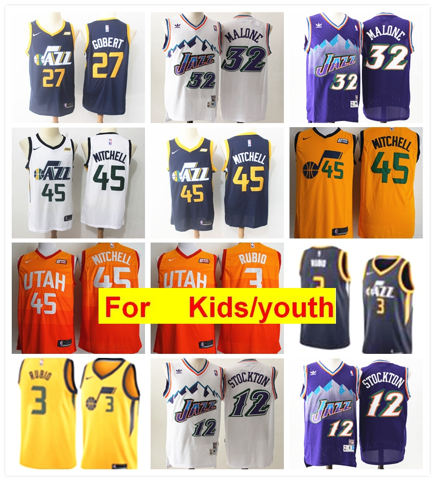 new styles 74cfb 27b59 donovan mitchell jersey for kids
