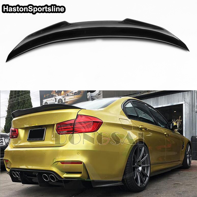 PSM Style F30 F80 4-Door Carbon Fiber Car Accessories Rear Trunk lip Spoiler Wing For BMW F30 F80 M3 2012-2017PSM Style F30 F80 4-Door Carbon Fiber Car Accessories Rear Trunk lip Spoiler Wing For BMW F30 F80 M3 2012-2017