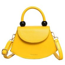 Fashion Smiley Women Purses Handbags 2019 New Girl's Yellow Shoulder Crossbody Bag Simple Ladies Hand Bags Small Totes Kabelky(China)