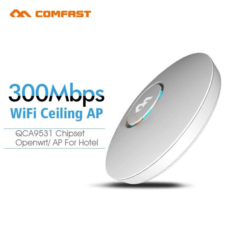 COMFAST CF-E320V2 300 M WiFi plafond sans fil AP routeur mur intérieur entreprise wi-fi système 48 V POE ouvert DDWRT Point d'accès