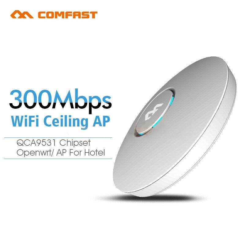 COMFAST CF-E320V2 300M WiFi plafond sans fil AP routeur mur intérieur entreprise wi-fi système 48V POE ouvert DDWRT Point d'accès