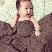Hot Sale High Quality 100 Cotton Knit Blanket For Summer Autumn On Sofa Bed Weave Pattern