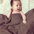 """Hot sale high quality 100% cotton knit blanket for Summer/Autumn on Sofa/Bed """"Weave pattern"""" Baby blanket 80*135cm"""
