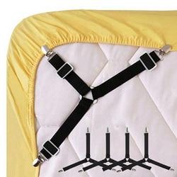 4 шт/1 шт черный/белый Регулируемые треугольные кровати застежки для простыни для скатерти чехлы для диванов