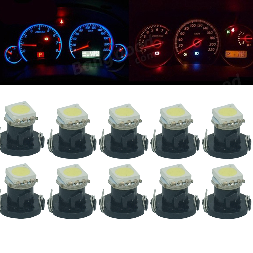 CQD-Light 10pcs T4.2 5050 SMD Car Board Instrument Panel Bulb DC 12V White / Red / Blue / Green / Yellow instruments Light bulbs цена и фото