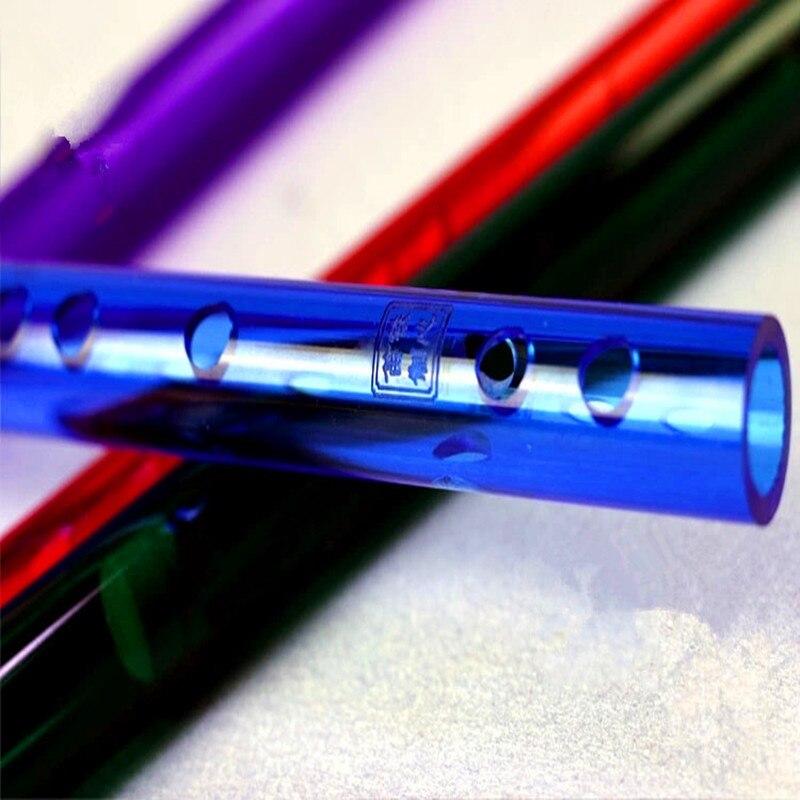 Flauta china de color Dizi Transverse fluta Concierto de cristal - Instrumentos musicales - foto 5
