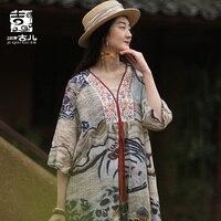 Jiqiuguer модный дизайн женское платье с принтом оригинальная Ретро Вышивка рами v образный вырез пляжные летние свободные платья G192Y014