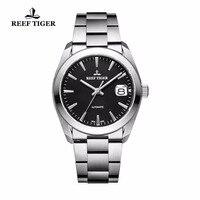 Reef платье с тигром мужские часы Автоматические 316L Твердые часы из нержавеющей стали с большой датой RGA835
