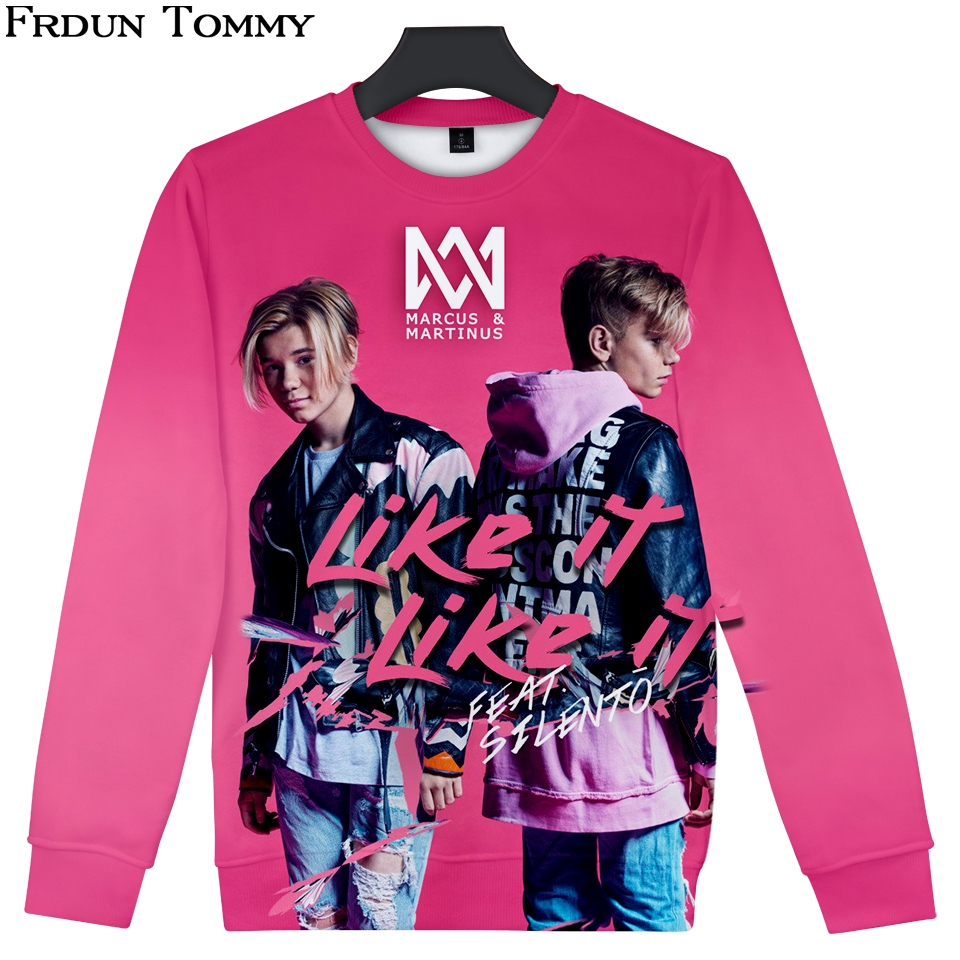 Frdun Tommy 3D Sweatshirt Marcus &martinus Round Collar High Street Sweatshirt Fashion Oversize Pullover Casual High Quality