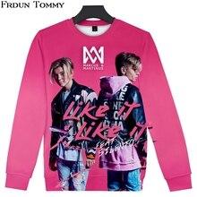Frdun Tommy 3D Sweatshirt Marcus &martinus Round Collar High Street Fashion Oversize Pullover Casual Quality