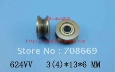 Hardware 20 Stücke 4mm 624vv V Groove Versiegelte Kugellager 0,157 vgroove 4x13x6mm Klar Und GroßArtig In Der Art Swivel Platten