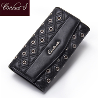 2014 New Genuine Leather Women Wallets Lady Pruse Bag Brand Wallet Carteira Feminina Clutch