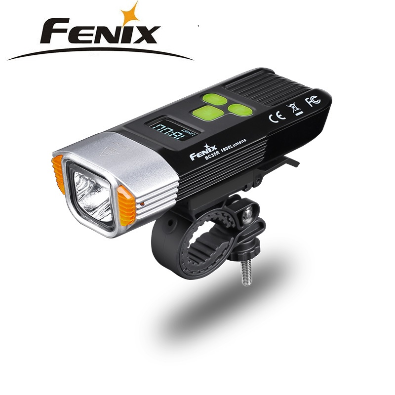 2018 New Fenix BC35R 1800 Lumens Cree XHP50 Neutral White LED All-round USB Rechargeable Bicycle Light with OLED screen цена