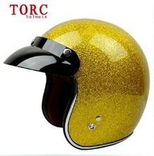 New Arrival TORC HELMET moto casco capacete 3/4 open face vintage motorcycle helmet Jet Open face retro helmet V541