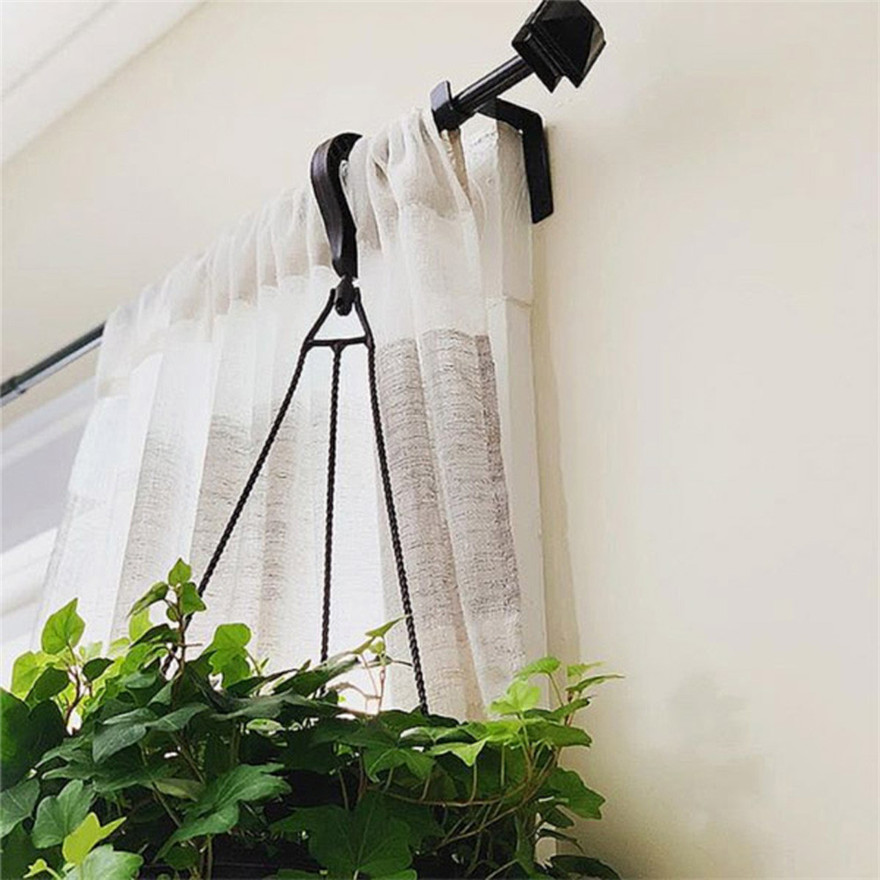 Curtain Decorative Accessories Home Decor Curtain Rod Decorative Double Extensible Bracket 1 Pair Hang Curtain Rod Holders Tap Right Into Window Frame Curtain Rod Bracket