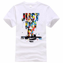 2017 New Fashion Just Do It T shirt Brand Clothing Hip Hop Letter Print Men T Shirt Short Sleeve Anime High Quality T-Shirt Men(China)