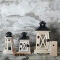 for LOFT industrial vintage candelabrum portable candel lantern wood-madedecorative metro lamp courtyard light