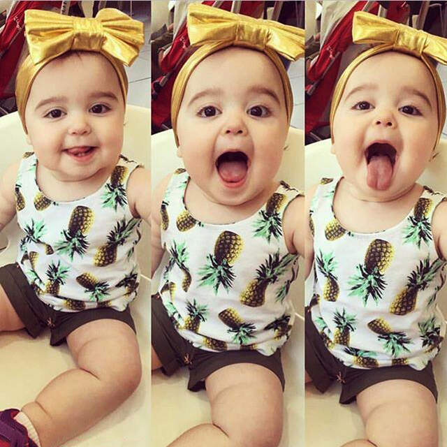 11e79d4719e placeholder Summer Cute Girls Outfits Vest + Shorts Pineapple Suits Kids  Girls Clothes Sleeveless 2pcs Baby Girl