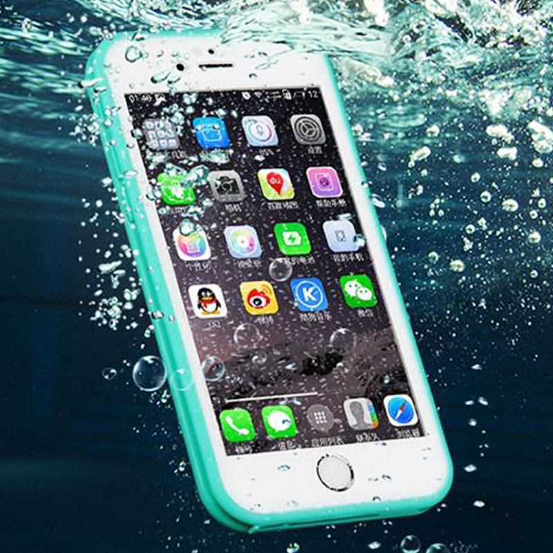 Swimming Waterproof Phone Case for Coque iPhone 5S SE 6S 7 Plus Shockproof Rubber Diving Life Silicon Cover for iPhone7 funda