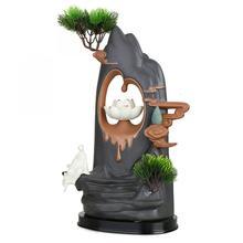 Ceramic Burner Backflow Incense Holder Creative Home Decor Lotus Mountain Shape Smoke Waterfall Censer Aroma