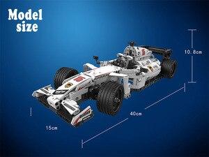 Image 5 - Moc f1 racing rc carro de controle remoto 2.4ghz técnica com caixa motor 729 pçs blocos de construção tijolo criador brinquedos para crianças presentes