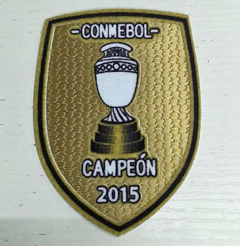 2015 Campeão Patch patch de futebol Chile Chile Copa América Campeon Ferro remendo Crachá