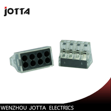 100pcs PCT-108 Push wire wiring connector For Junction box 8 pin conductor terminal block