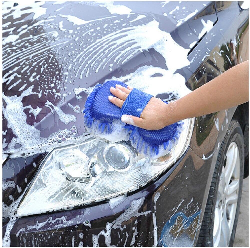 Mling Ultrafine Fiber Chenille Anthozoan Car Wash Gloves Brushes Microfiber Car Motorcycle Washer Car Care Cleaning Brushes