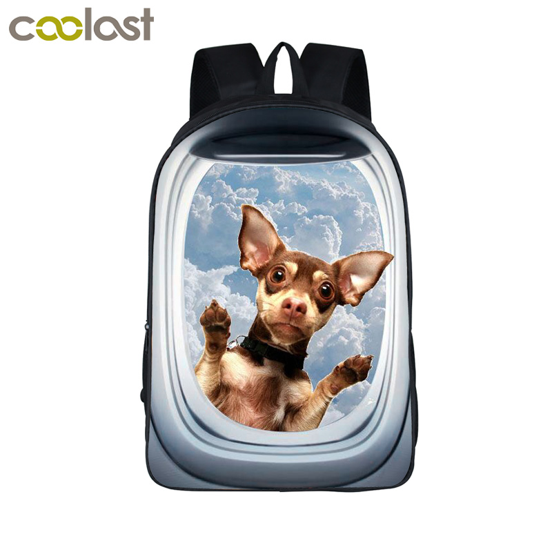 Funny 3d Animal Backpack Cute Puppy Pet School Backpack Boys Girls