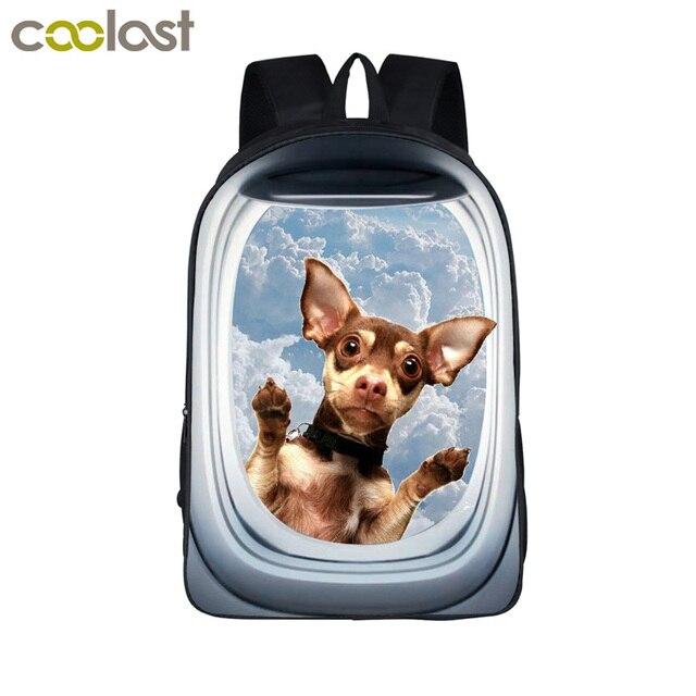 Funny 3D Animal Backpack Cute Puppy Pet School Backpack Boys Girls School Bags  Children Bookbag Kids Daily Backpack For Teens