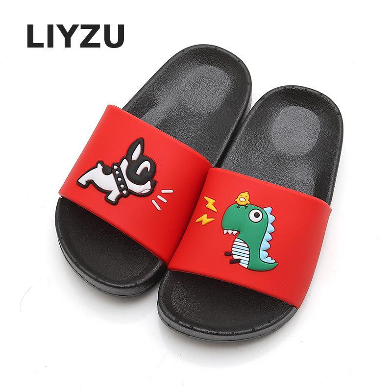 Unisex Kids Cartoon Dinosaur Puppy Indoor Slippers Toddler Boys Girls Family Summer Home Flip Flop Baby Children Beach Sandals