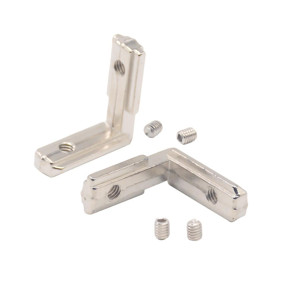 T Slot L Type 90 Degree 3030 Aluminum Connector Bracket Fastener EU Standard 30/40/45 Series Aluminum Profile Parts 3d Printer