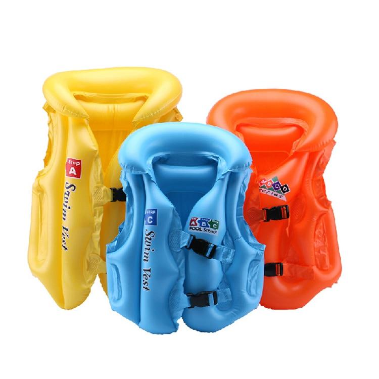 3colours Summer Swimming Inflatable vest Childrens inflatable swimming Pool&Accessories Swimming Jacket for Kid Vest Drifting