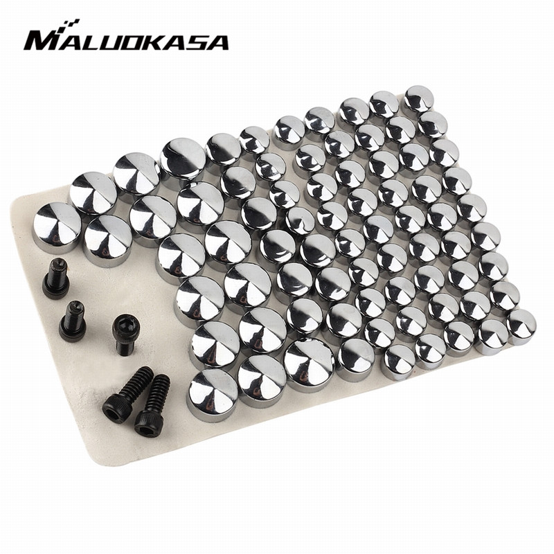 MALUOKASA 75 Pieces/Pack Bolt Topper Caps Cover Nut For Harley Davidson FLT / FLH  2007 2008 2009 2010 2011 2012 2013 2014 Moto aftermarket free shipping motor parts toppers caps for 2007 2008 2009 2010 2011 2012 harley davidson softail twin cam chrome